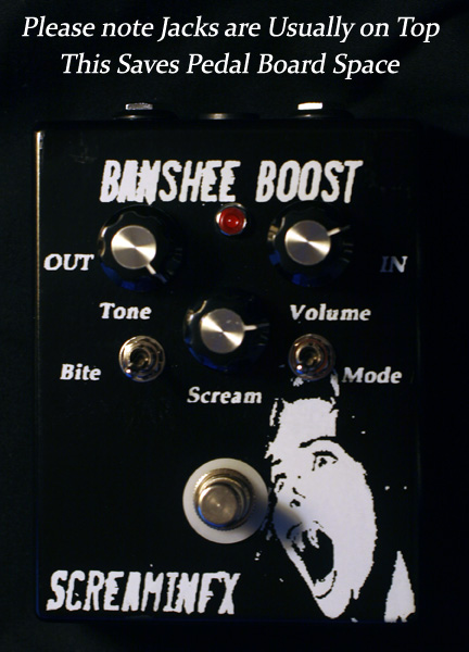 Banshee Boost Tone and Overdrive Pedal.